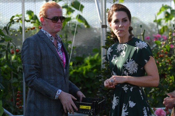 Chris Evans and the Duchess of Cambridge (Ben Stansall/PA)