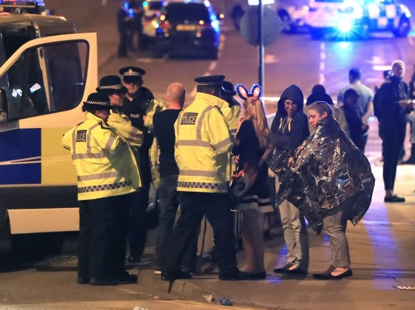 Emergency services at Manchester Arena (Peter Byrne/PA)