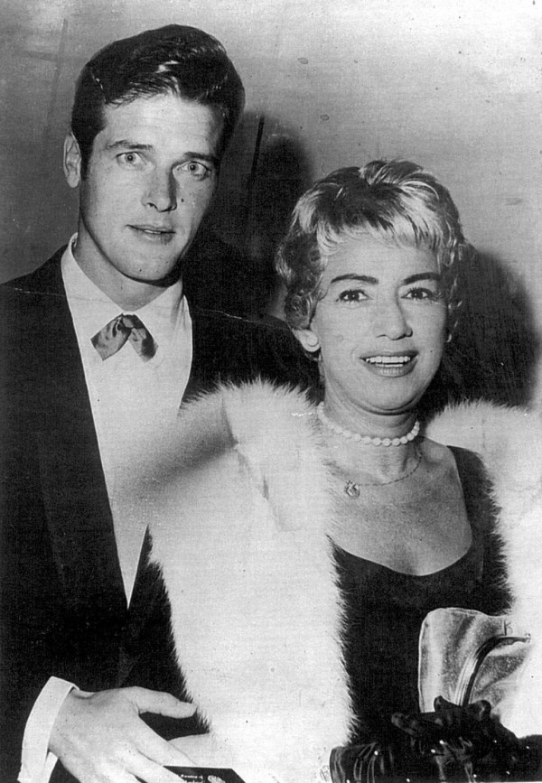 Sir Roger Moore and Dorothy Squires
