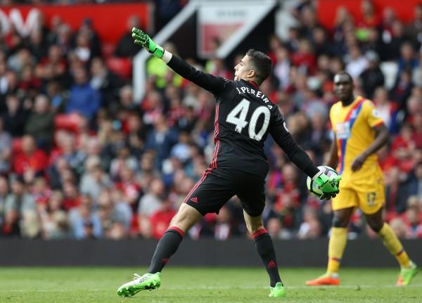 Manchester United goalkeeper Joel Castro Pereira