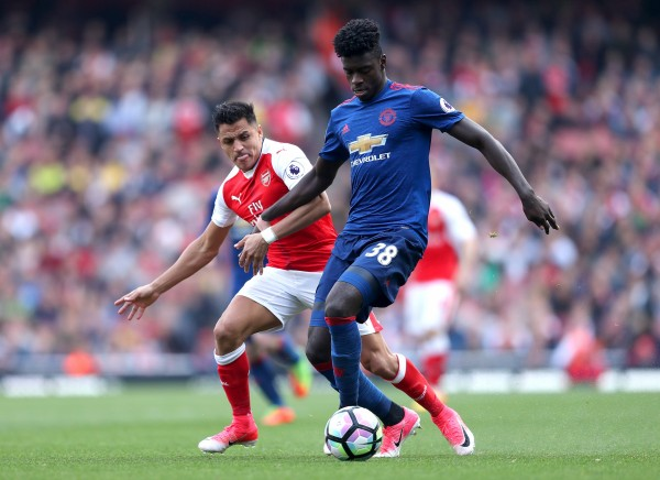 Manchester United's Axel Tuanzebe