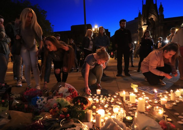 A vigil for the attack in Manchester