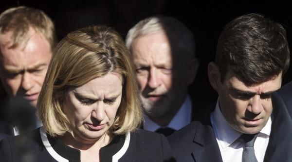 Home Secretary Amber Rudd and Mayor of Greater Manchester Andy Burnham