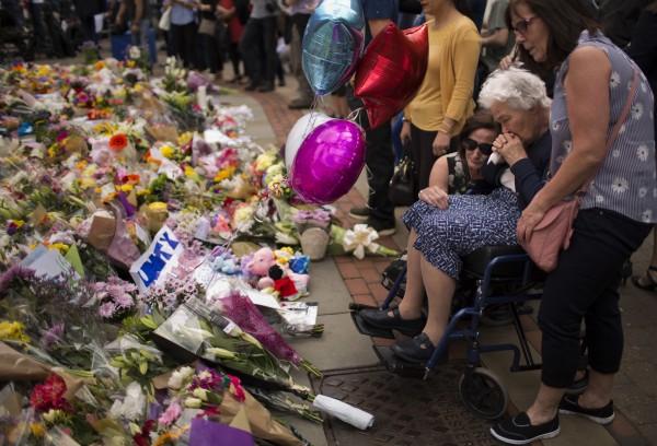 A vigil in Manchester
