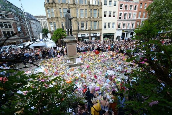 The flowers in Manchester