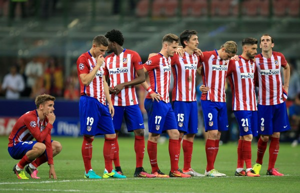 Atletico Madrid players during the 2016 Champions League final