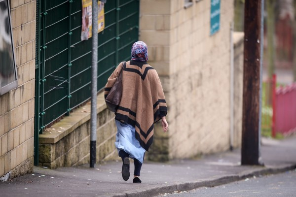 A general view of a Muslim woman in Bradford