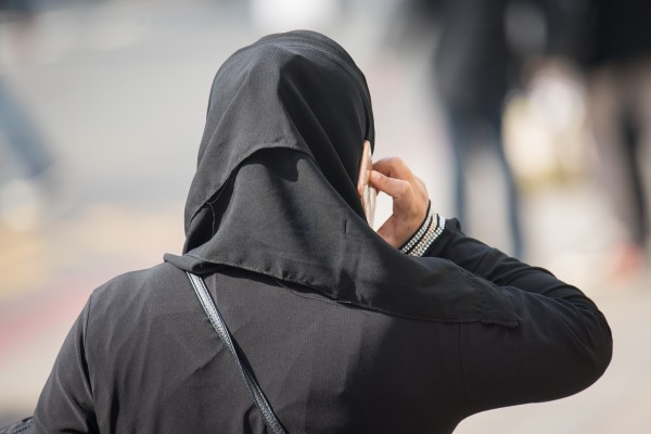 A general view of a Muslim woman in London.