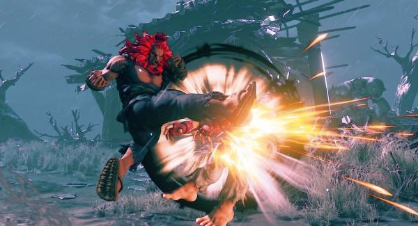 Akuma fights Ryu in Street Fighter