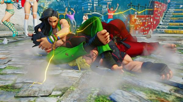 Laura fights Ken in Street Fighter
