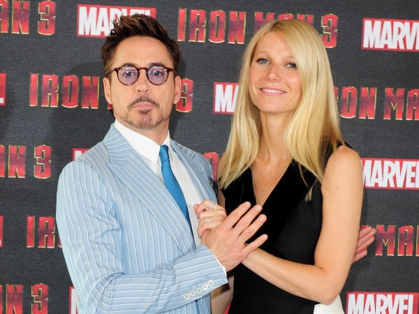 Robert and Gwyneth launch Iron Man 3.