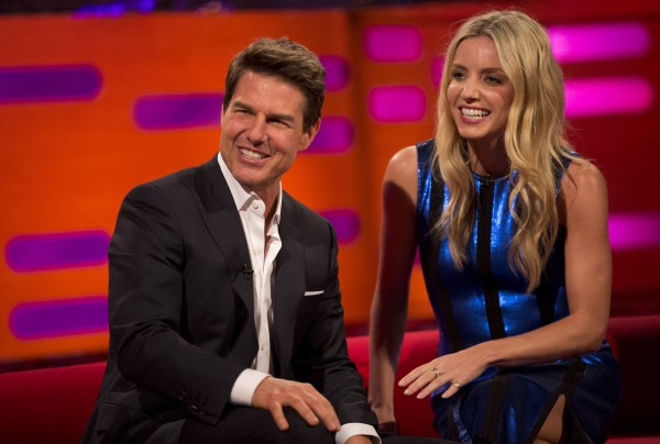 Tom Cruise and Annabelle Wallis filming the Graham Norton Show