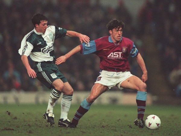 Liverpool's Robbie Fowler and Aston Villa's Andy Townsend