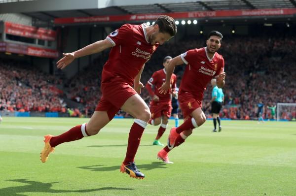 Liverpool's Adam Lallana