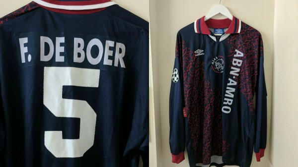 Ajax's shirt from the 1995 Champions League final