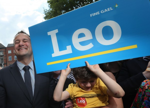 Leo Varadkar arrives at the Mansion House in Dublin