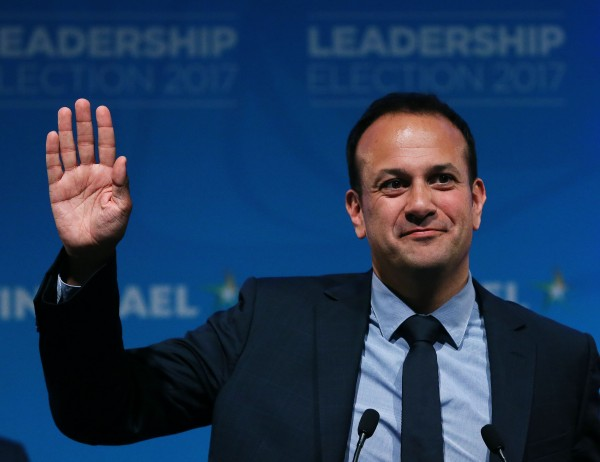 Leo Varadkar makes a speech at the Mansion House in Dublin