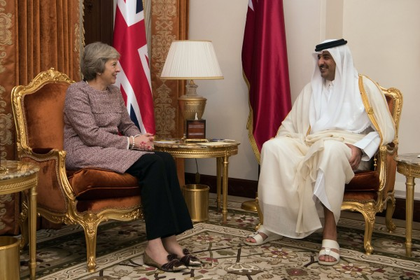 Theresa May meets Emir of Qatar in December (Carl Court/PA)