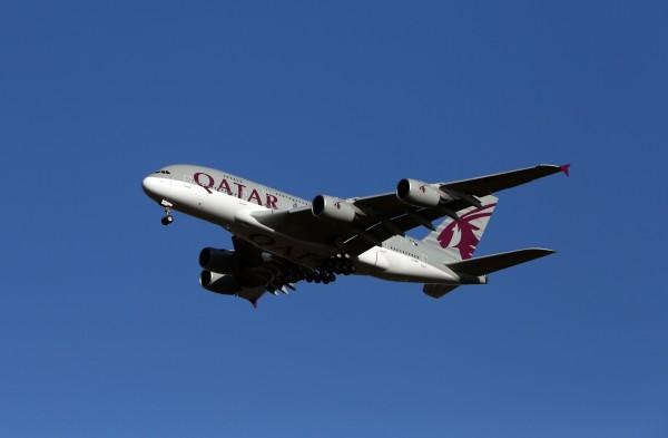 A Qatar Airways Airbus A380-861 plane (Steve Parsons/PA)