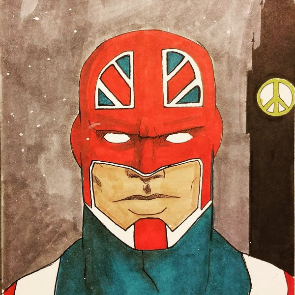 superhero artwork in tribute to London attack (Sam Wilson)