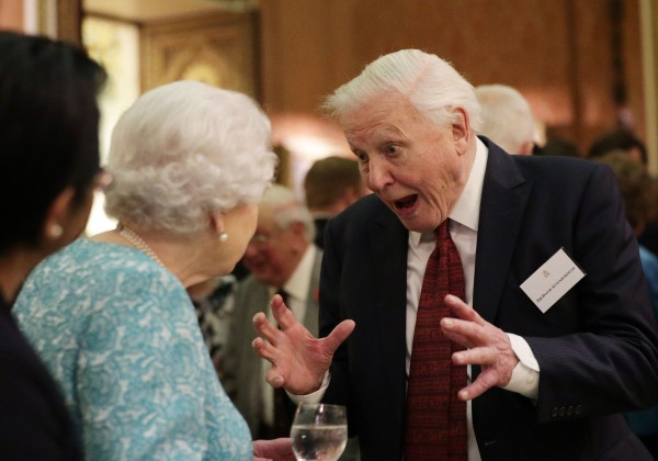 Sir David and the Queen.