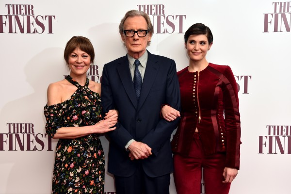 Helen (left) launches Their Finest with cast members Bill Nighy and Gemma Arterton.
