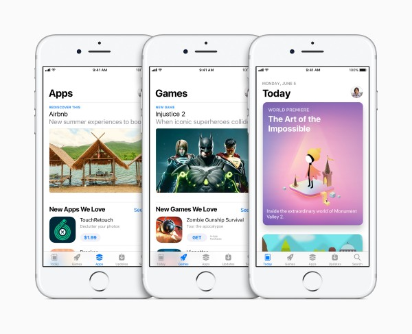 Apple's new apps store.