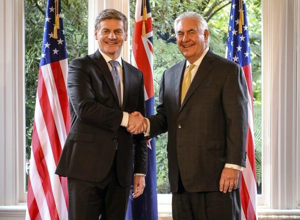 Rex Tillerson and Bill English