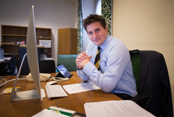 Plymouth MP Johnny Mercer at his office
