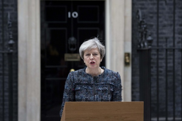 May calls an election on Downing Street