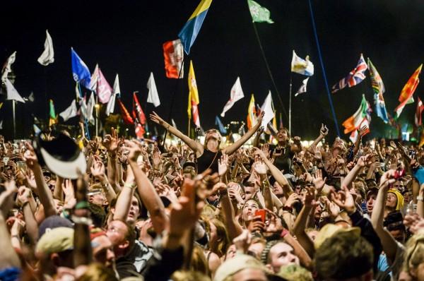 A festival crowd (Ben Birchall/PA)
