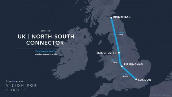 Hyperloop One route