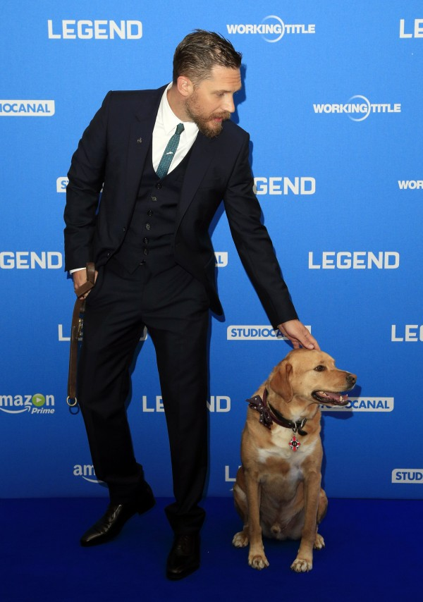Tom Hardy and his dog Woody