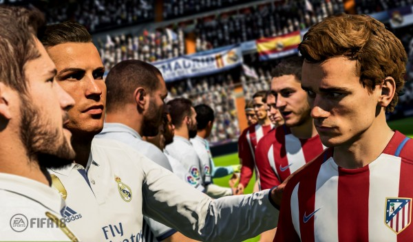 Real Madrid and Atletico Madrid in Fifa 18