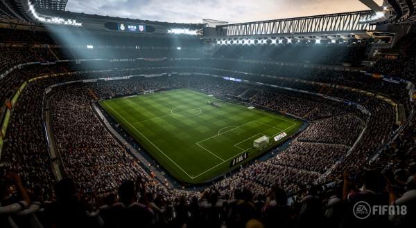 Real Madrid's Bernabeu stadium in Fifa 18