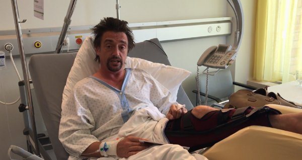 Richard Hammond assures fans he's not dead in video from hospital bed