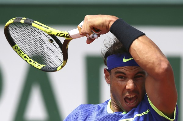 Rafael Nadal at the 2017 French Open