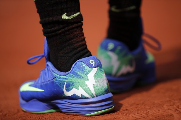 Rafael Nadal's trainers at the 2017 French Open