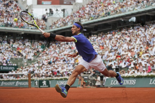 Rafael Nadal during the 2017 French Open final