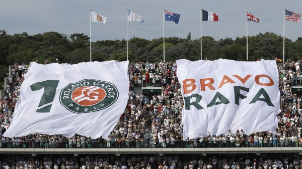Rafael Nadal is congratulated on winning his 10th French Open title
