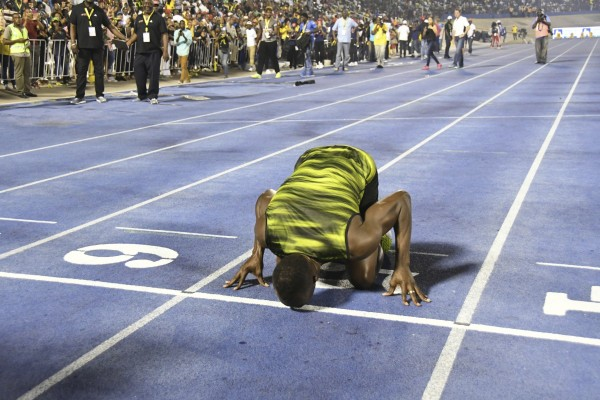 Usain Bolt races his last race in Jamaica