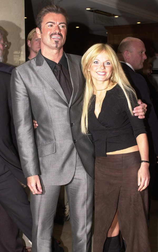 George Michael and Geri Horner in 2000 (Fiona Hanson/PA)