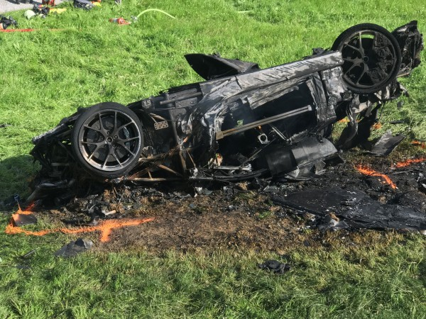 Richard Hammond's crashed car (Freuds/PA)