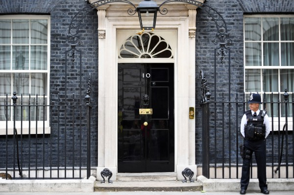A police officer stands outside 10 Downing Street (Victoria Jones/PA)