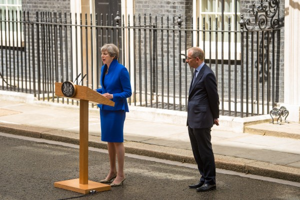 theresa may and her husband philip (Dominic Lipinski/PA)