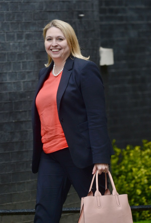 Karen Bradley arrives at 10 Downing Street (Victoria Jones/PA)