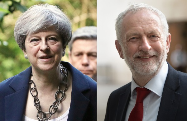 Theresa May and Jeremy Corbyn.