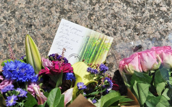 Floral tributes left at the roadside (Nick Ansell/PA)