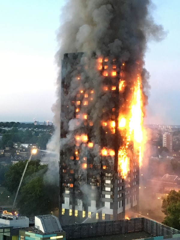 fire at Grenfell Tower (Natalie Oxford/PA)