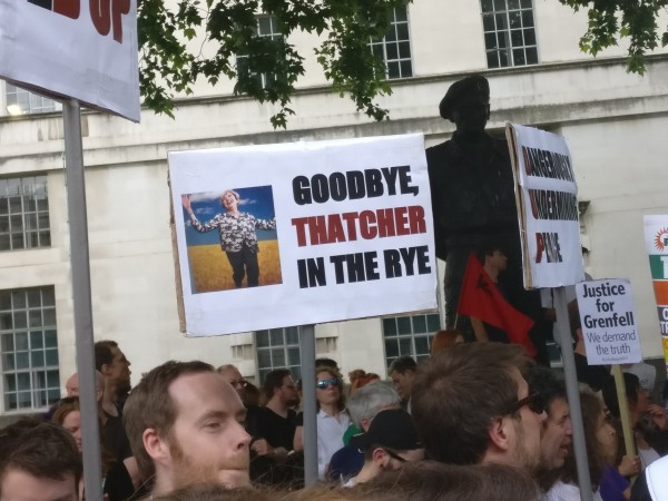 Anti-Theresa May signs